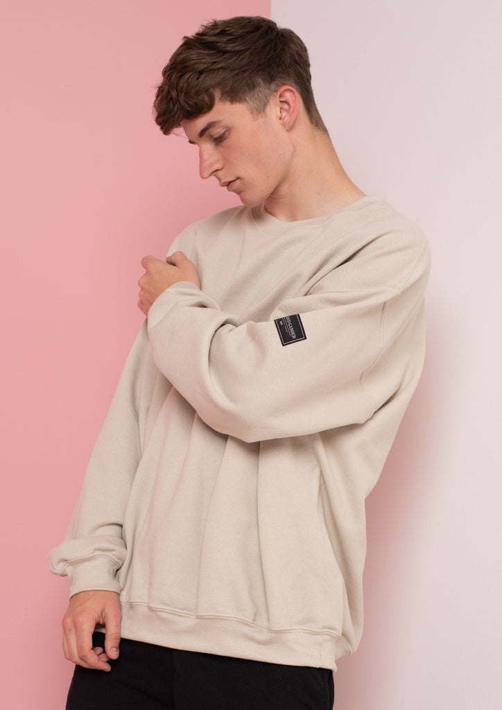Unisex LTD Patch Sweat, Sand | Goose & Gander