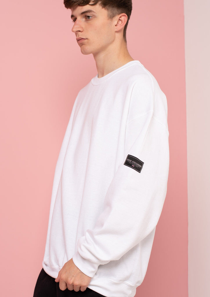 Unisex LTD Patch Sweat, White | Goose & Gander