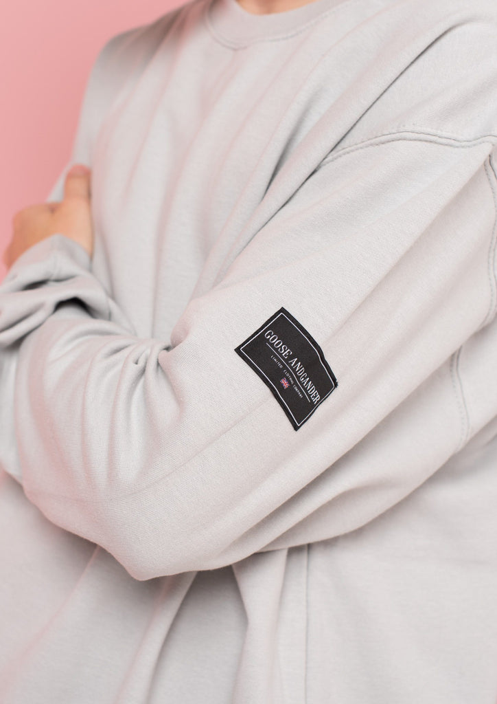 Unisex LTD Patch Sweat, Moondust Grey | Goose & Gander