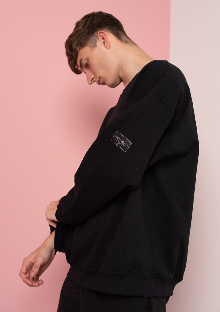 Unisex LTD Patch Sweat, Black | Goose & Gander