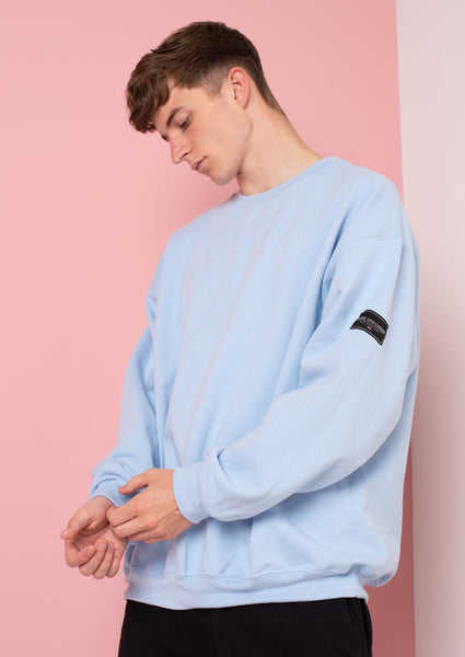 Unisex LTD Patch Sweat, Baby Blue | Goose & Gander