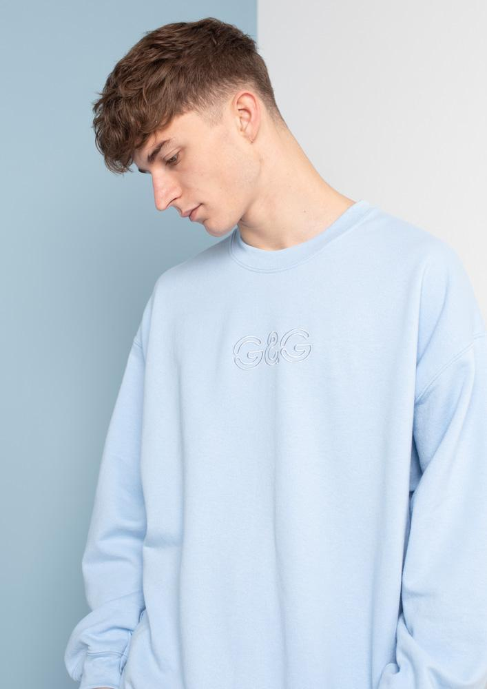 Unisex Outline Sweat, Baby Blue | Goose & Gander