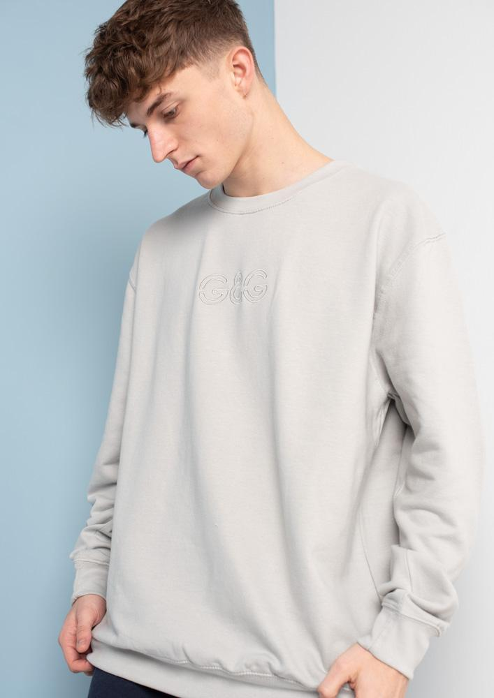 Unisex Outline Sweat, Moondust Grey | Goose & Gander