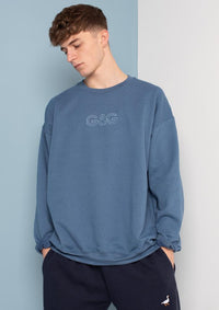 Unisex Outline Sweat, Indigo Blue | Goose & Gander