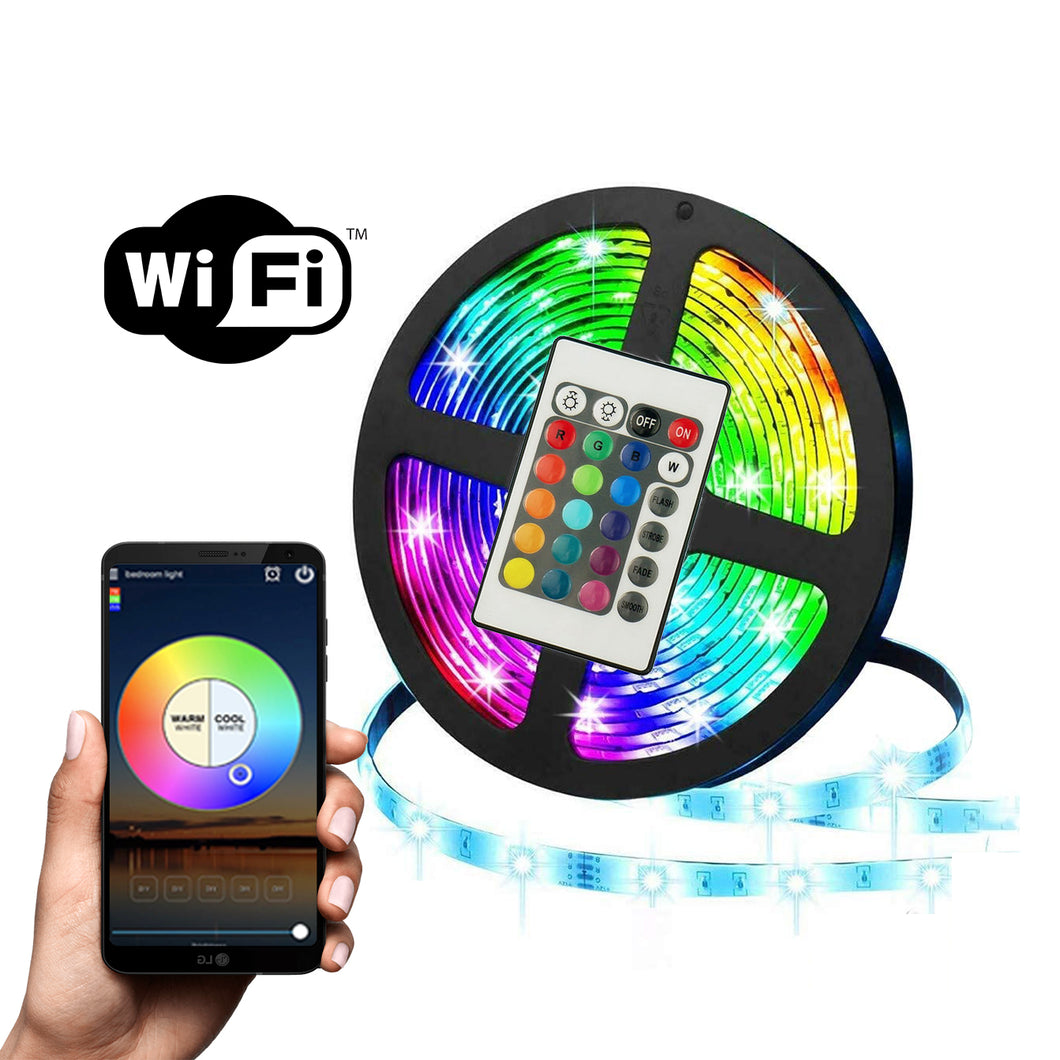 GlowUp Smart LED Strip (Smartphone WiFi Controls)