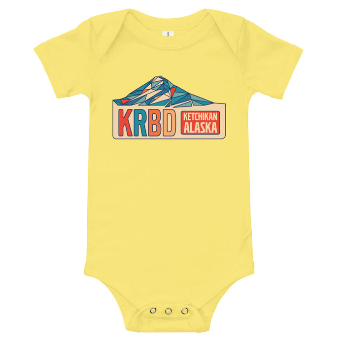 Onesie with geometric KRBD design