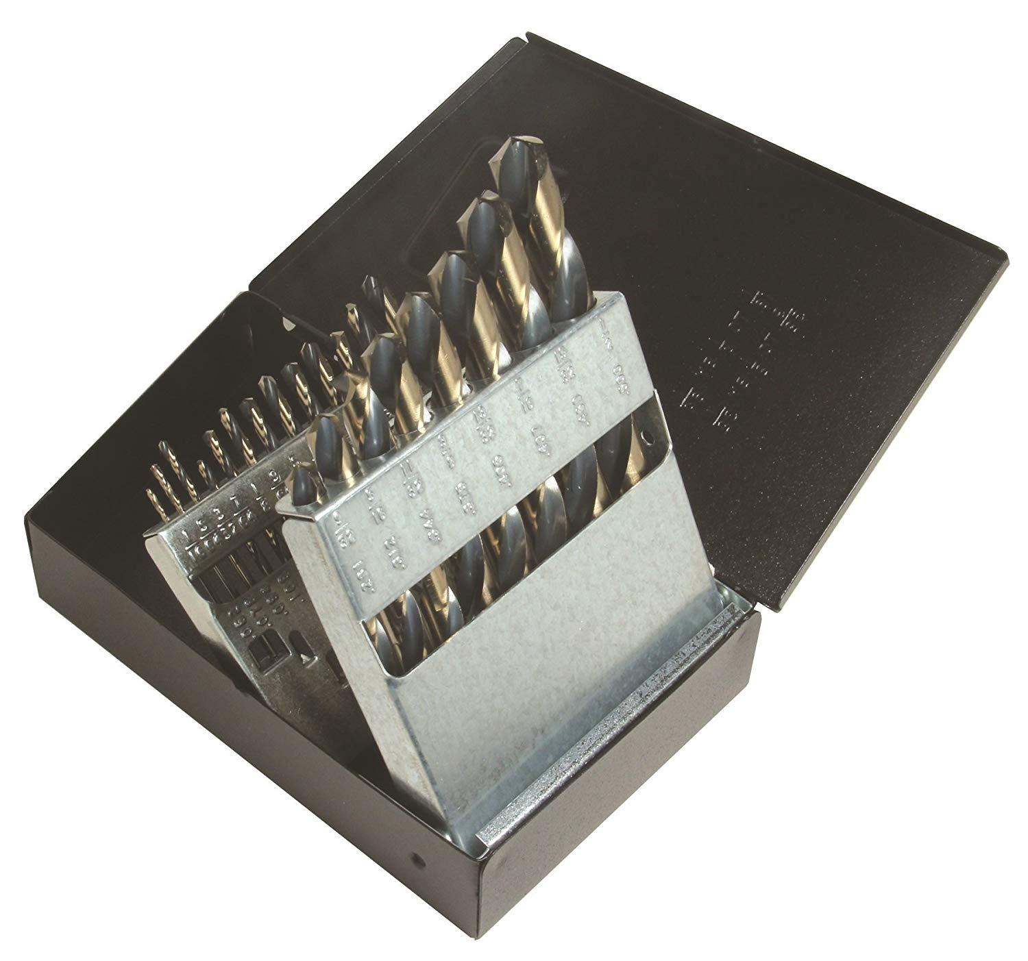 "VULCAN 21 PIECE DRILL BIT SET (1/16"" THRU 3/8"" by 64th)"