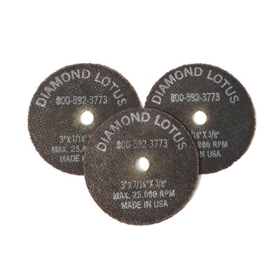 "Diamond Lotus 3""x1/16""x3/8"" Cut Off Wheel 50 Grit 
