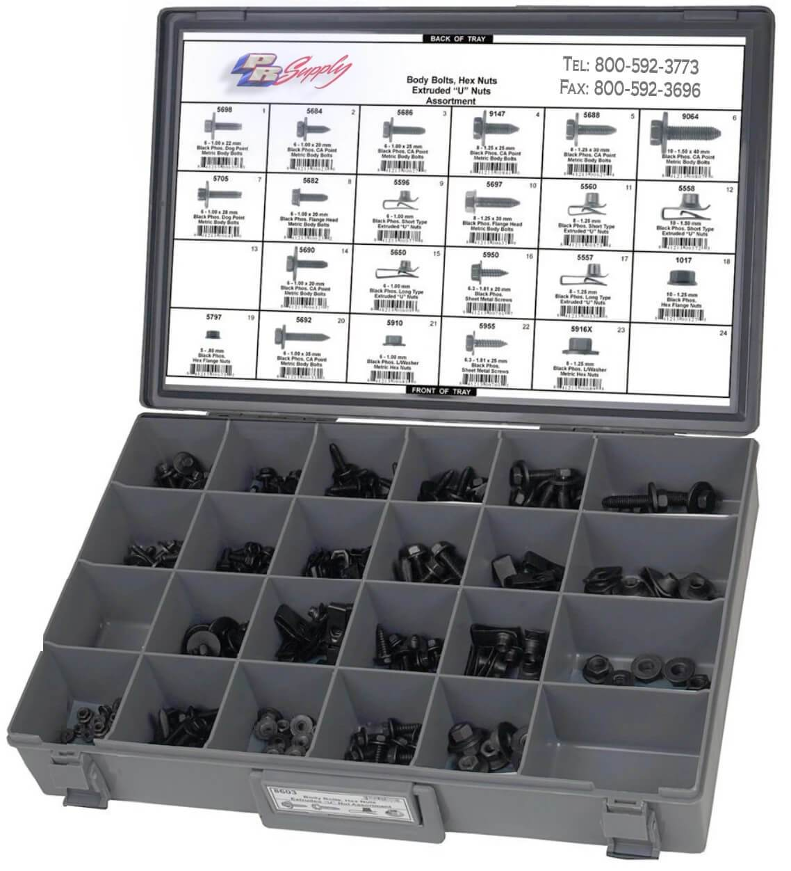 203 PC BODY BOLTS ASSORTMENT KIT