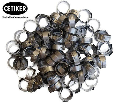 OETIKER STAINLESS STEEL HOSE CLAMPS (PACK OF 100)