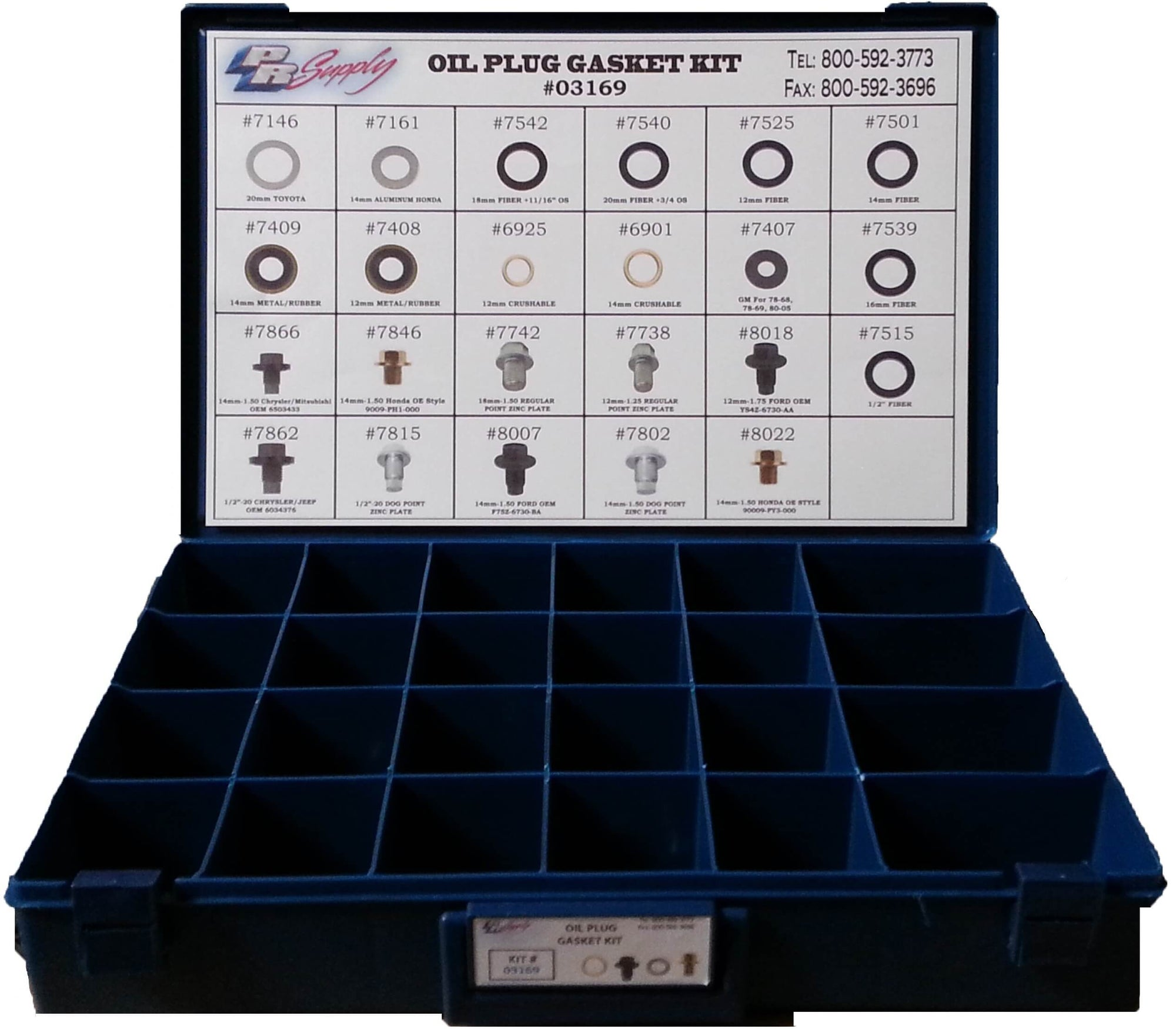 300pcs OIL CHANGE GASKET AND PLUG KIT