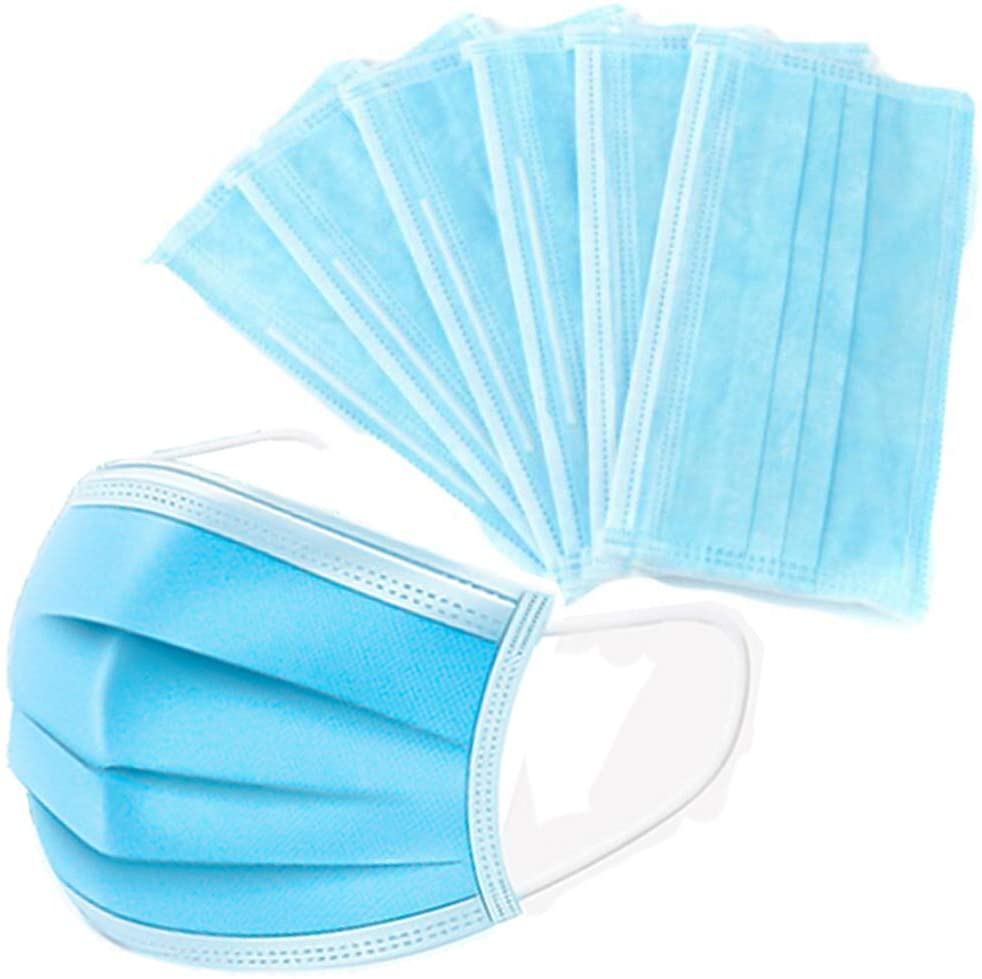 3 Ply Disposable Face Mask With Elastic Ear Loops 25 PCS PER BAG