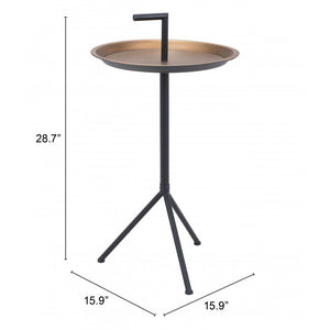 MERCY ACCENT TABLE GOLD & BLACK