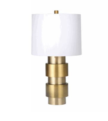 Two Tone Stacked Cylinder Table Lamp