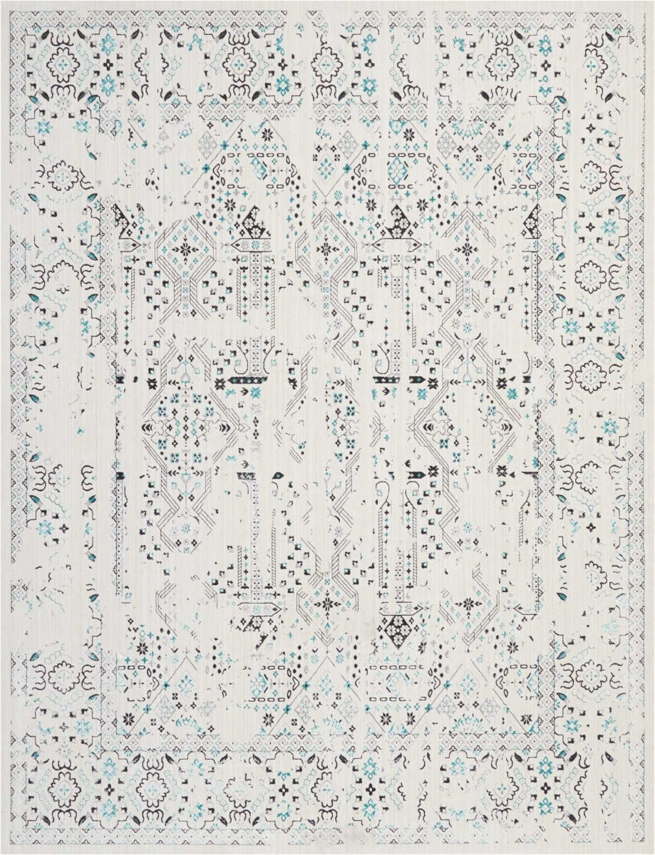 Alfombra Silver Screen 43 Ivory / Teal