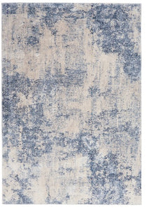 ALFOMBRA SILKI TEXTURES  IVORY / BLUE