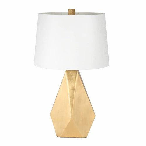 "METAL 26"" MULTI FACETED TABLE LAMP GOLD"