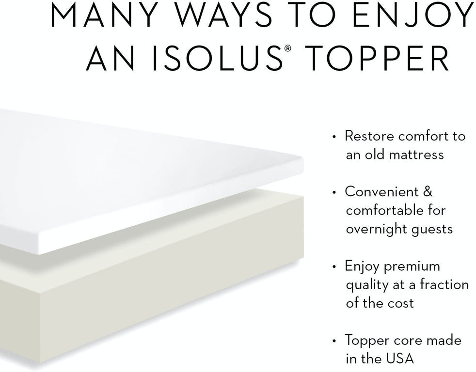 ISOLUS 2 Inch Latex Foam Mattress Topper