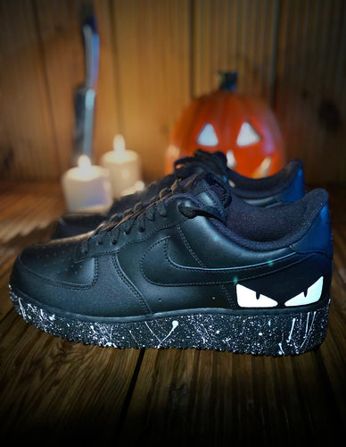 Fendi Eyes Glow In The Dark Custom Air Force 1 Painted