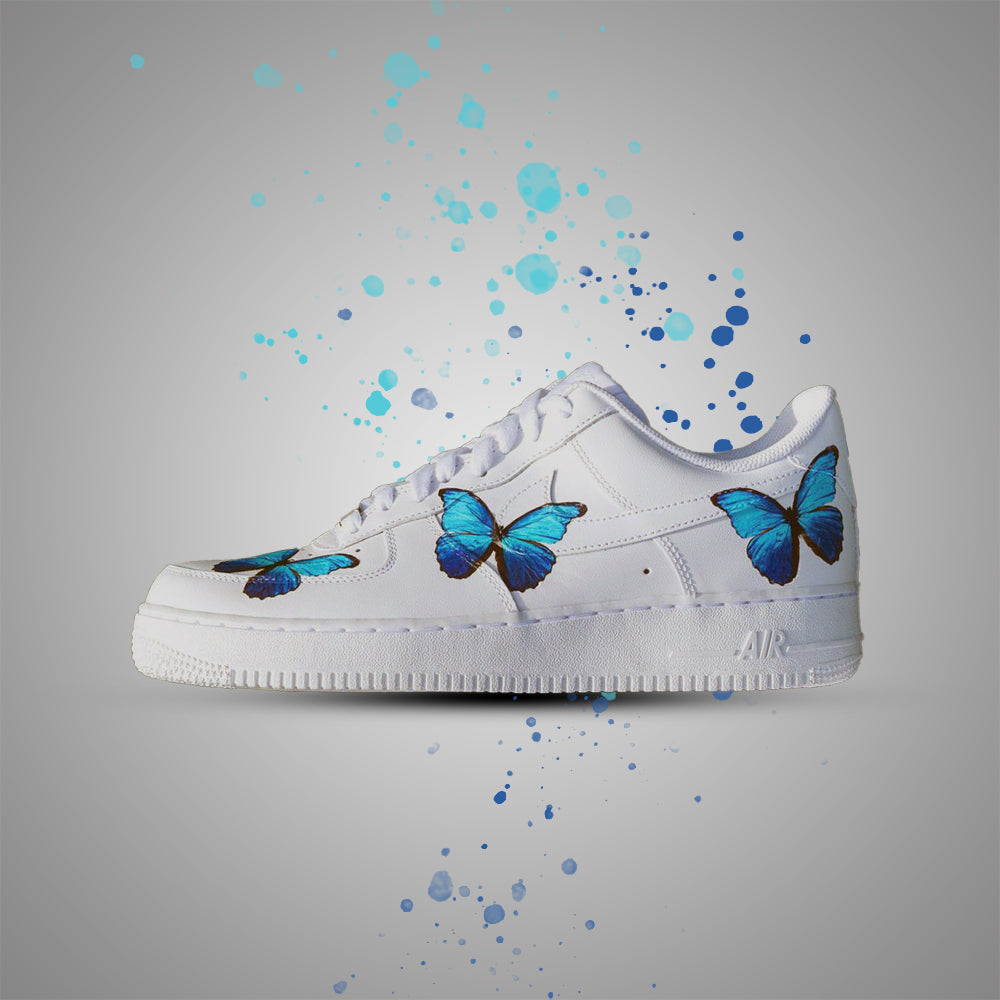 Blue Butterflies Custom Air Force 1 Vinyl