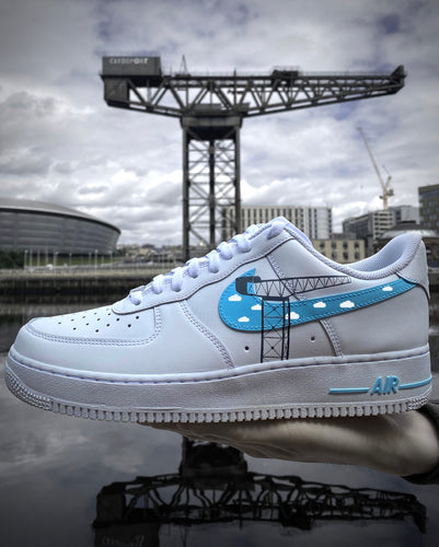 Finnieston Crane Glasgow Purple Custom Air Force 1 Painted