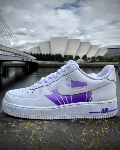 Armadillo Glasgow Purple Custom Air Force 1 Painted