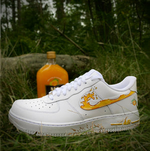 Mad Dog MD 20 20 Orange Custom Air Force 1 Painted