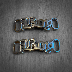AF1 Metallic Text Shoelace Charms