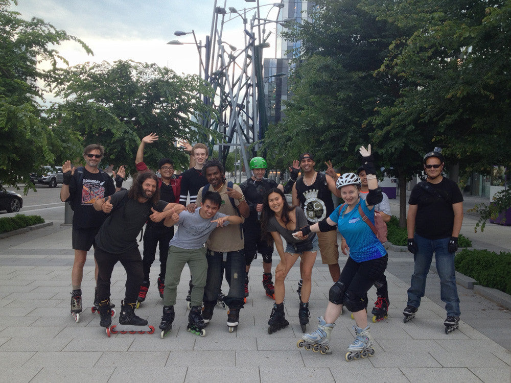 Toronto Sunday Night Inline Skate at the Canary District