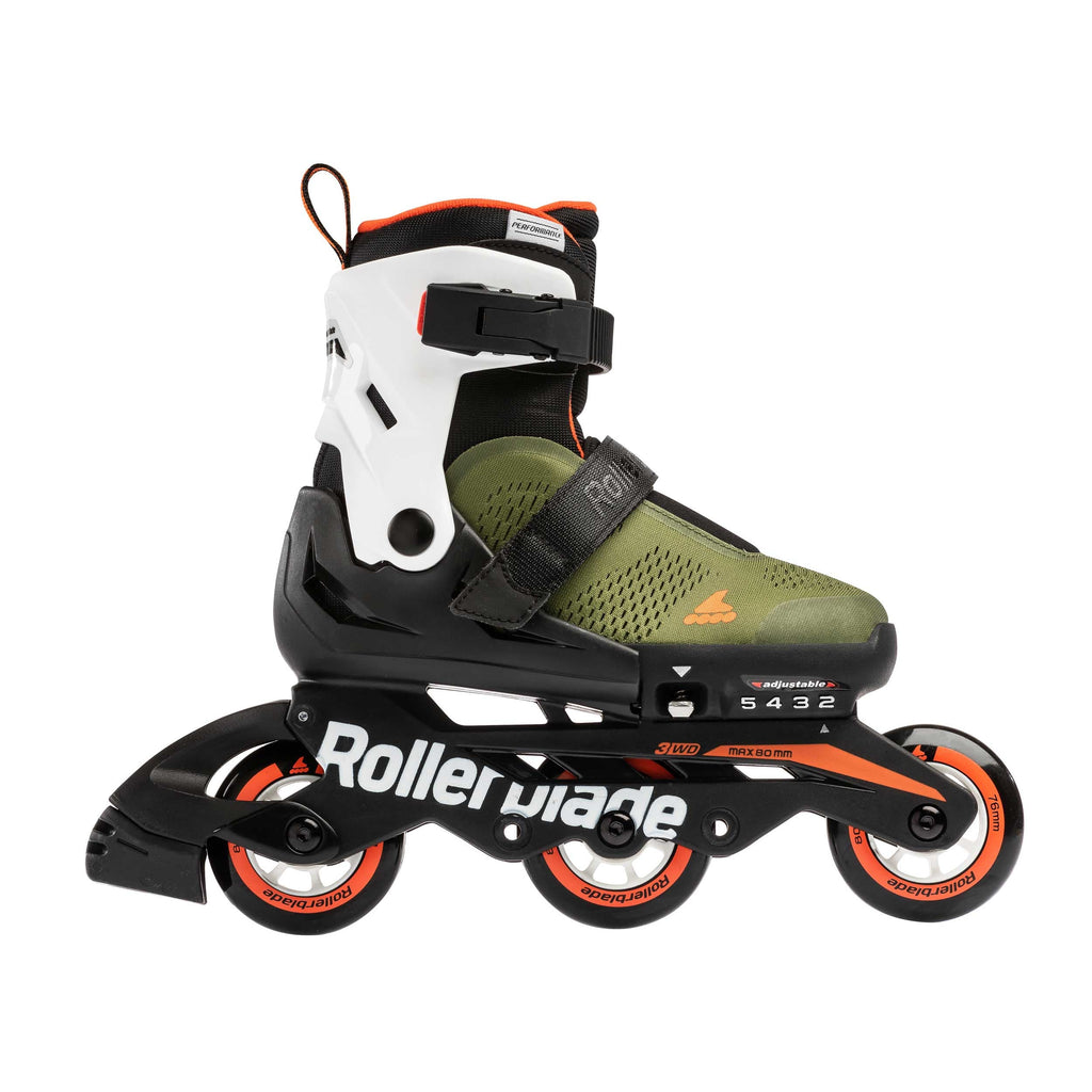Rollerblade Microblade Free 3WD - Military Green/Orange