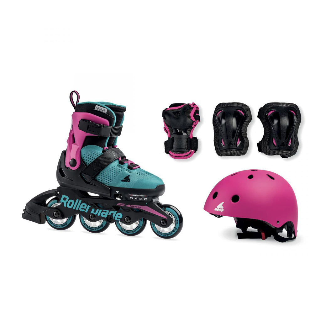 Rollerblade Cube G - Pink/Emerald Green