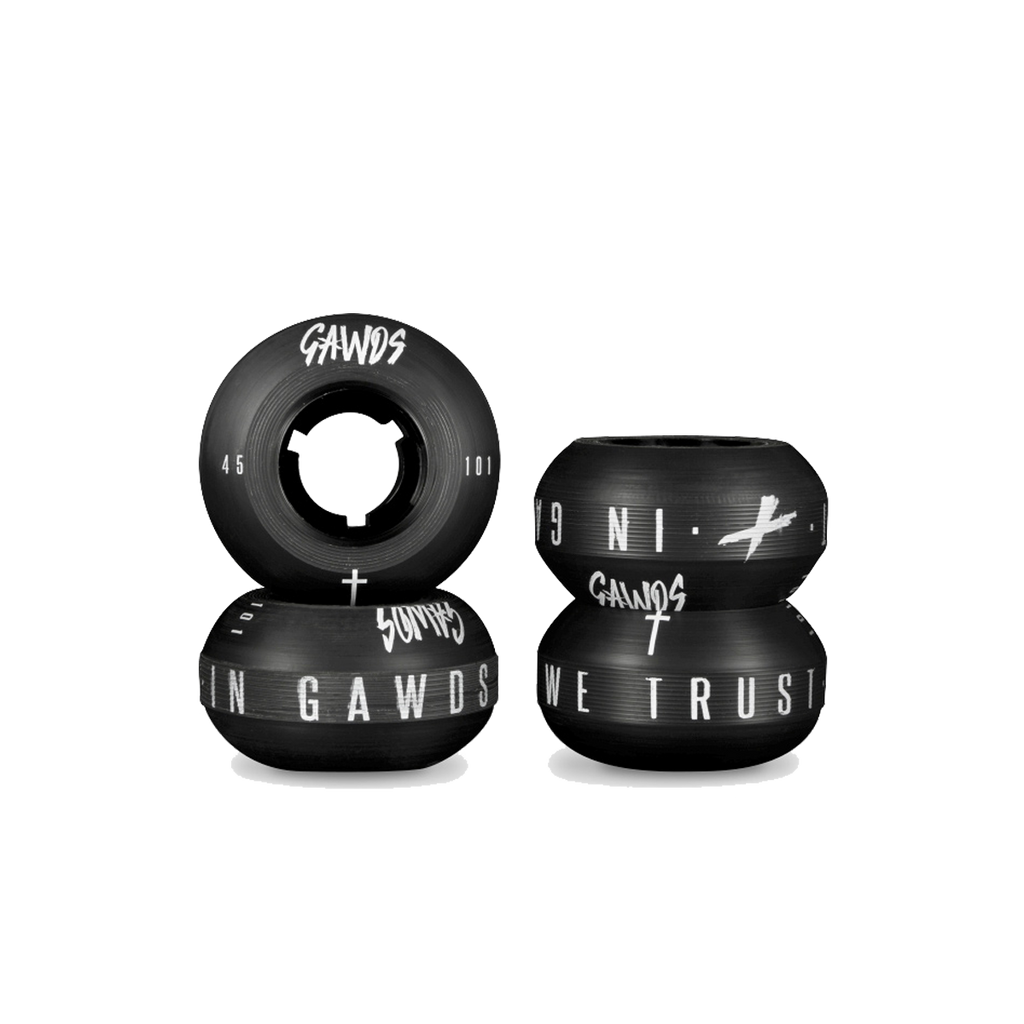 Gawds Pro Anti-Rocker Wheels 45mm/101a (4 Pack)