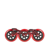 Powerslide MegaCruiser 125MM Red Frame Set