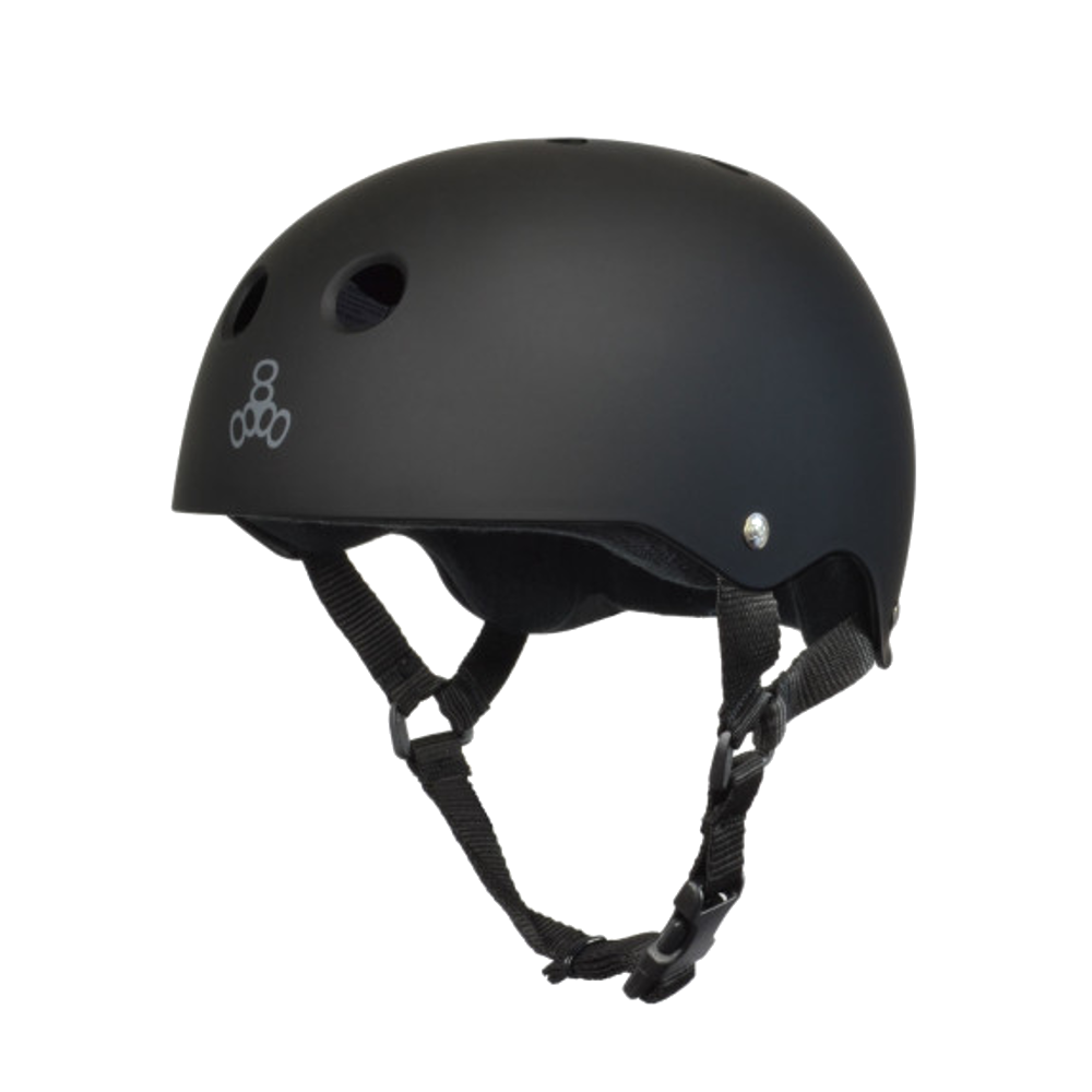 Triple 8 Sweatsaver Helmet - All Black Rubber