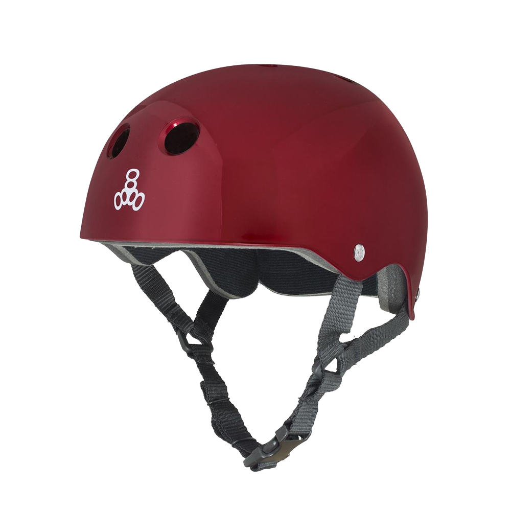 Triple 8 Brainsaver Helmet - Metallic Red