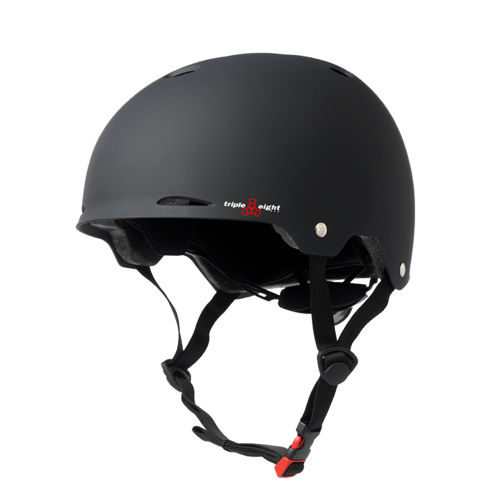 Triple 8 Gotham Dual Certified Helmet - Black Rubber