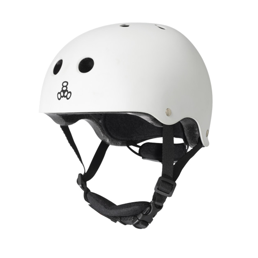 Triple 8 Lil 8 Helmet - White Gloss
