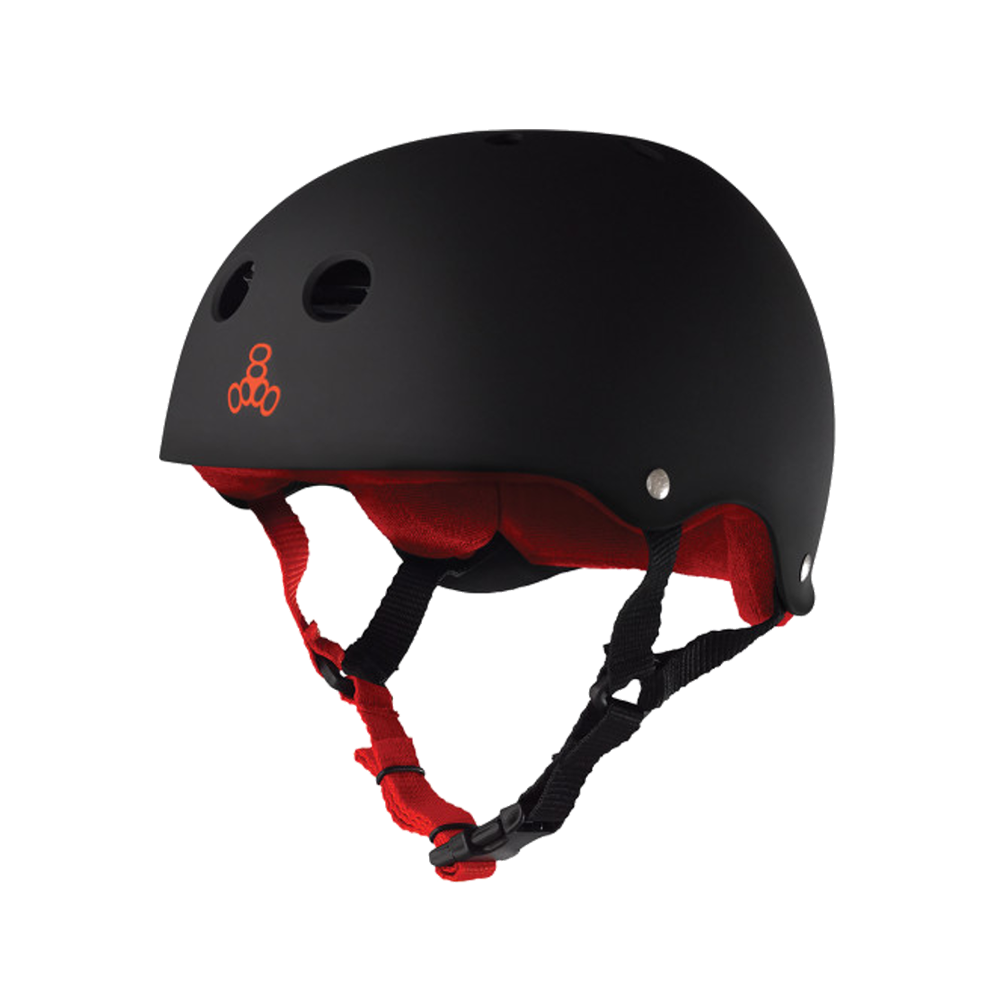 Triple 8 Sweatsaver Helmet - Black Rubber