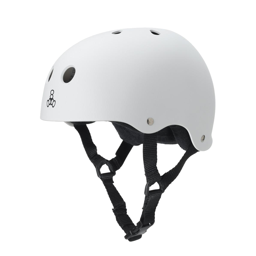 Triple 8 Sweatsaver Helmet - White Rubber