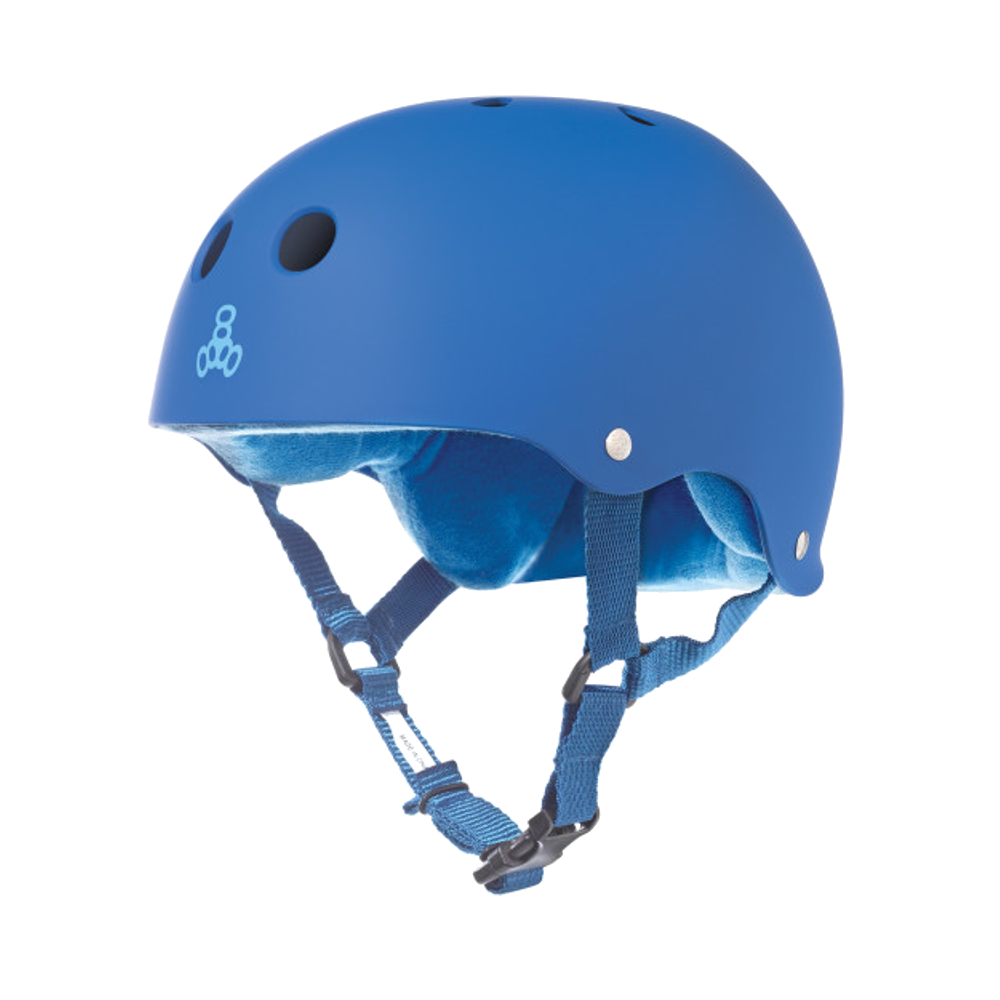 Triple 8 Sweatsaver Helmet - Blue Rubber