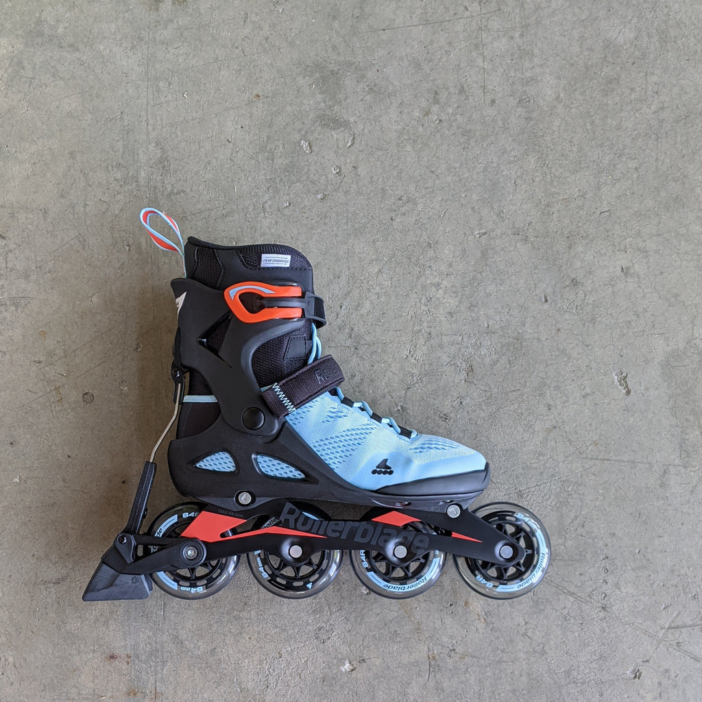 Rollerblade Macroblade 84 ABT W - Ice Blue/Fire Orange