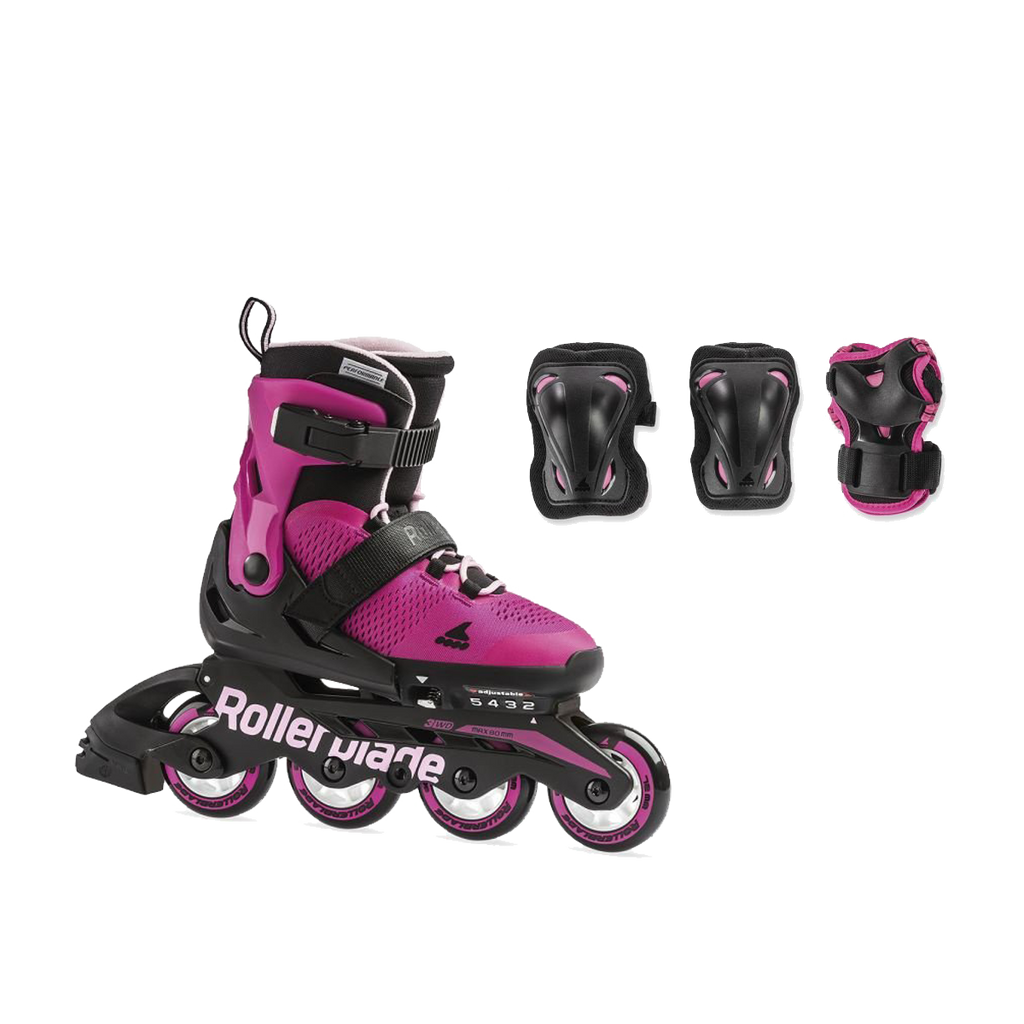 Rollerblade Combo G Junior (Adjustable) - Pink/Bubblegum