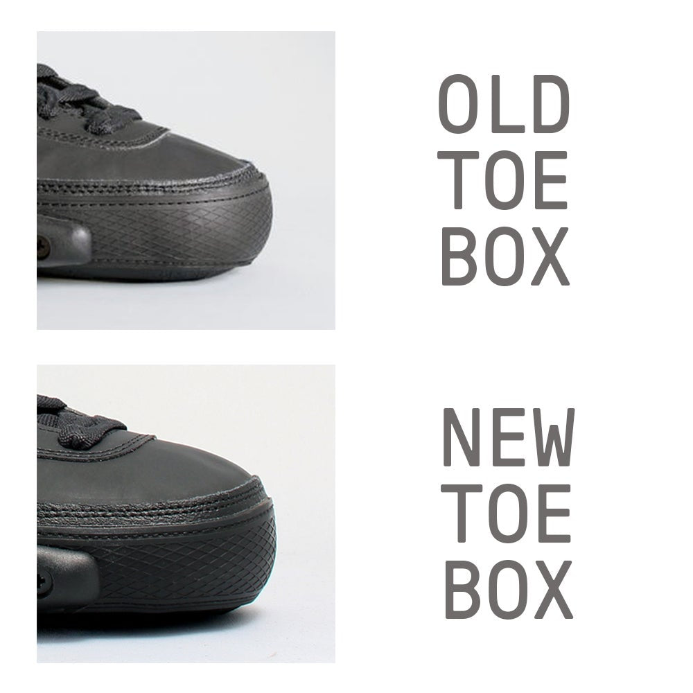 The updated Wizard Skate Basic shell has a larger toe box area with more vertical space.