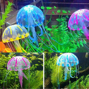 2019 New Arrival Glowing Effect Artificial Jellyfish Aquarium Decoration Fish Tank Underwater Live Plant Luminous Ornament