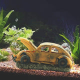 2019 New! Oxygen Pump Air Bubble Stone Air Pump Resin Aquarium Ornament Retro Car Design Fish Tank Toy Aquarium Decoration