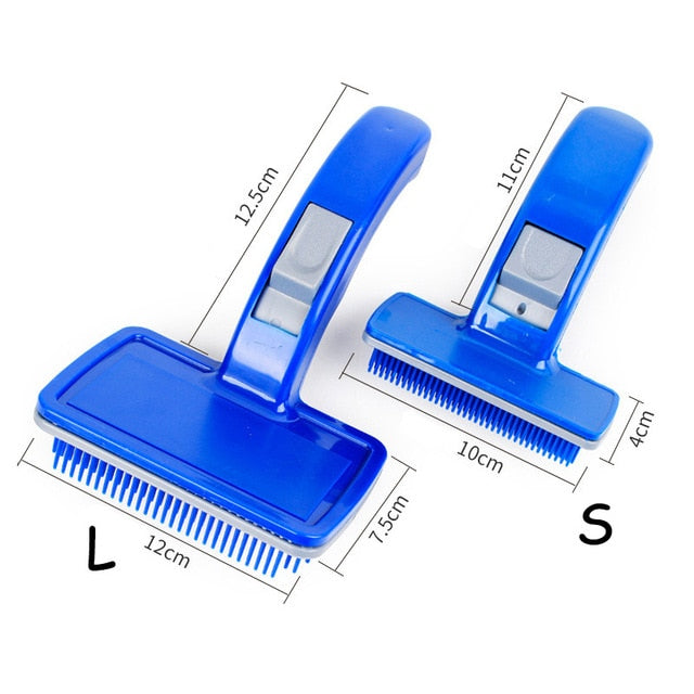 2019 Self Cleaning Dog Brush for Cats Dead Hair Remove Pet Hair Shedding Comb Open Knot Grooming Tools Plastic Fur Trimmer