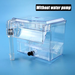 Clear Fish Tank Breeding Hatchery House Incubator Aquarium Transparent Breeder Isolation Hanging Box Reptile Turtle Cage Pump