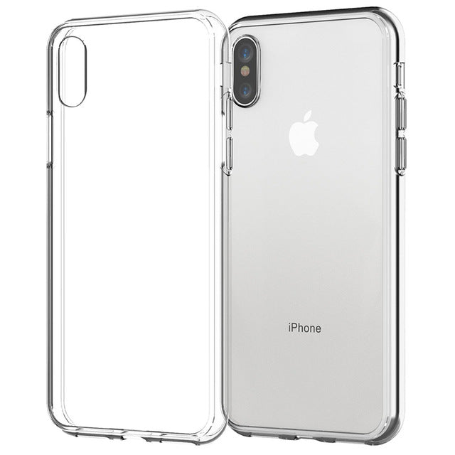Clear Phone Case For iPhone 7 Case iPhone XR Case Silicon Soft Transparent Back Cover For iPhone 11 X XS Max 8 7 6s Plus 5S Case