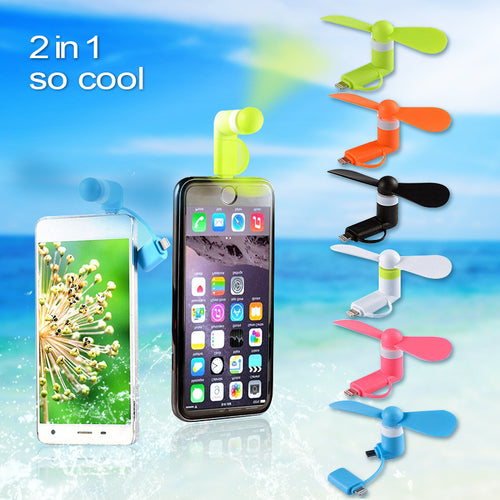 Mini Portable USB Fan Mobile Phone USB Gadget For iphone 5 6 7 plus 8 X for Android Samsung Micro Gadget Cool And Travel Gadget