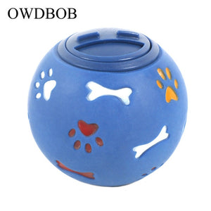 OWDBOB Dog Toy Rubber Ball Interactive Leakage Food Play Ball Pet Cat Dog Teething Training Cleaning Chew Toys Pet Accessories